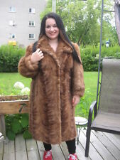 #12  GORGEOUS must have it mink fur coat size 10 TO 14   color light brown