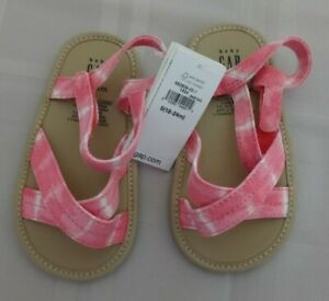 Baby Gap Baby Girl Tie-Dye Sandals/Pinks & Whites/NWT/Size 18 - 24 Months