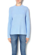 Vince Womens Blue Wool Cashmere Mock Neck Sweater XS
