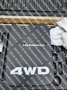 Toyota Pickup and Tacoma 1st Gen Mud Flap Splash Guard 4WD Decals 95-04 84-95
