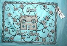 "Retro Look ""Home Sweet Home"" Wall Art Decorative Ornament Garden Sign Plaque"