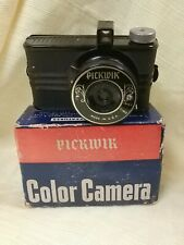 Vintage Pickwik camera with original box and instructions, Made in Usa
