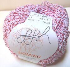 GGH - Domino Cotton Boucle Yarn   #006   White & Red