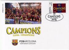 Tarjeta conmemorativa Champions FCBARCELONA fcb stamps Football  futbol Mesi
