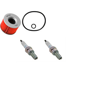 K&N OIL FILTER + 2 NGK CR8E SPARK PLUGS TUNE UP KIT FOR KAWASAKI NINJA 250 250R