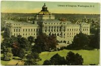 1900's 1910's Library Of Congress Aerial Washington DC Capitol Vintage Postcard