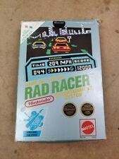 Vintage Nintendo Nes Rad Racer - Cib Complete In Box With 3D Glasses