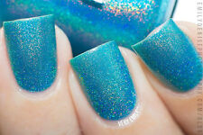 Polish Me Silly Teal Me the Truth Holographic Nail Polish Indie Polish Me Silly
