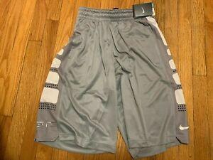 Nike Elite 1.0 Shorts Basketball Gray/White Men's Size Small New Original OG