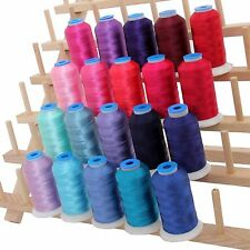 RAYON MACHINE EMBROIDERY THREAD SET 20 PINK & BLUE COLORS - 1000M CONES - 40WT