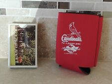 Vintage Budweiser Beer Clydesdale & Wagon Playing Cards + Cardinals Can Wrap