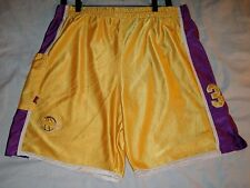 Los Angeles Basketball Shorts 34 FP Designs FPD Yellow Purple Youth XL used