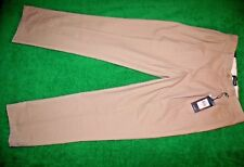 Men's CHAPS classic straight double pleat all cotton chino pants size 33x32