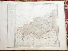Dépt 66 - Carte Originale de 1790 - Gravure sur Cuivre Aquarellée 73 x 56 cm