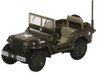 Oxford Diecast 76WMB003 Willys MB US Army 1/76 OO/HO