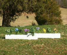 "Horse Jumps Wooden Flower Box Set/2 - 4ft x 6"" White"