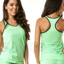 COQUETA fashion sexy womens sport shirt GREEN black border fresh TANK TOP new