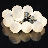 set 10 LED FESTOON WARM WHITE fairy decorative bauble lights Christmas XMAS