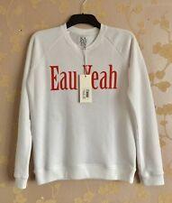 Zoe Karssen Women's White ' EAU YEAH' Sweatshirt Size:M BNWT