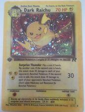 Dark Raichu Holo Pokemon Card 83/82 1st Edition Team Rocket