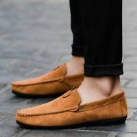 Fashion Mens Casual Driving Loafers Suede Leather Moccasins Slip On Penny Shoes