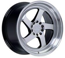 18X9.5 +38 F1R F28 5X114.3 SILVER WHEEL Fits 240SX Tc Xb Rsx Tsx Civic Wide Body