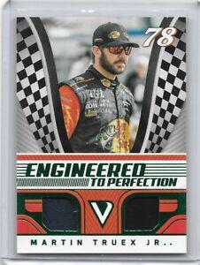 2018 VICTORY LANE RARE GREEN 22/99 MARTIN TRUEX JR. DUAL MATERIALS NASCAR RACING