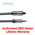 QED Performance Optical Toslink to Mini Toslink Graphite Audio Cable 1m - QE7100