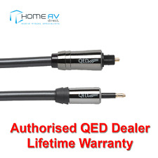 QED Performance Optical Toslink to Mini Toslink Graphite Audio Cable 3m - QE7103
