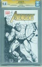 Avengers 1 Variant CGC SS 9.4 Captain America Original sketch Infinity War no 8