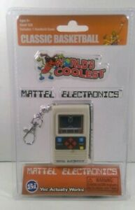 Mattel Electronics Games World's Coolest Mini Basketball Handheld Keychain Game