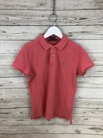 RALPH LAUREN SKINNY Polo Shirt - Size Large - Pink - Great Condition - Women's