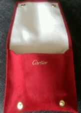 Cartier red watch storage/travel pouch. INCLUDING CUSHION