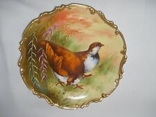 Bird Plate Limoges Coronet France Mark # 1 & Signed 1906 -1920  Multi