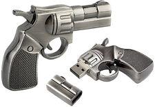 32 GB Pistol Gun USB 3.0 Flash Drive Memory Card Police Army Keychain Revolver