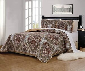Fancy Linen 2pc Twin/Twin Extra Long Bedspread Quilt Set Over Size Bed Cover wit