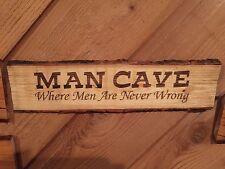Laser Engraved Tree Log Slice Rustic Beer Man Woman Cave Sign Wood Decor