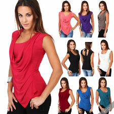 Cowl Neck Polyester Tops & Shirts Plus Size for Women