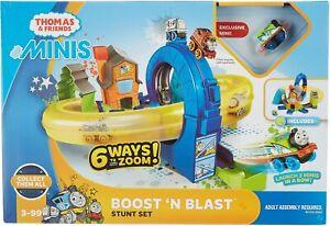 Thomas & Friends Minis Boost 'N Blast Stunt Set One Size Blue/green