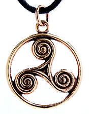 N° 46 Triskèle Pendentif Bronze Triskel Trois Spirale Vikings Celtes nordique
