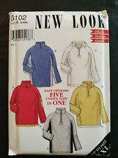 New Look Sewing Pattern #6102 Unisex Pullover Tops Hoodie Size S-XXL UNCUT