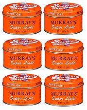 6 X Murray's Super Light Hair Dressing Pomade 85 gm