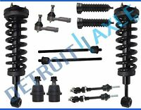 Ford F-150 Lincoln Mark LT 4WD Front Strut Tierod Ball Joint Sway Bar 12pc Kit