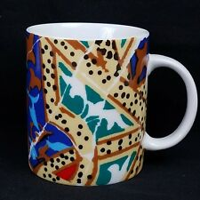 Unique Antoni Gaudi Barcelona Mosaic Pottery Mug Spain Coffee Cup