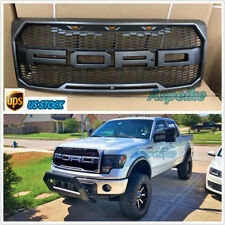 2009-2014 Ford F-150 F150 Grill Raptor Style Dark GRAY OE Grille W/F&R/LED S2