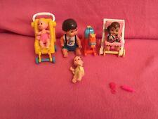 Barbie Heart Family Boy ~ Krissy Twins ~ 2 Strollers ~ Rocking Horse Bundle