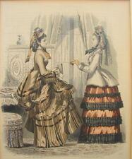 Modestich le Moniteur de la Mode Stahlstich koloriert 1870 Biedermeier