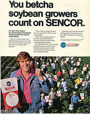 1977 Print Ad of Chemagro SENCOR Soybean Herbicide with Jimmy Dean
