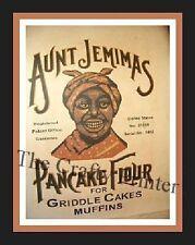 Black Americana MAGNET - AUNT JEMIMA PANCAKE FLOUR for GRIDDLE CAKE MUFFINS