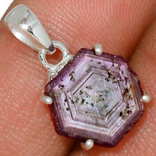 Rare Natural Ruby Statactites 925 Sterling Silver Pendant Jewelry AP167349